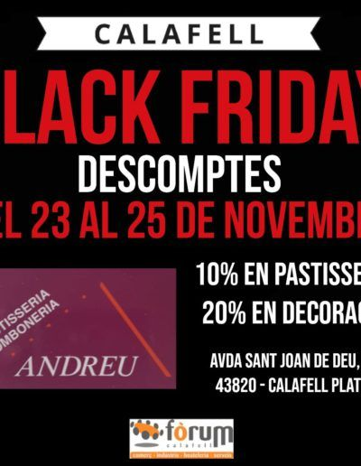 pastisseria-andreu-Black-Friday-2018-forum-calafell
