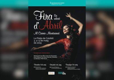 VIII Fira d'Abril al carrer Montserrat #calafellesviu