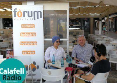 Entrevista Josep Soria President de Fòrum i Nadia del Mon Petit Rebaixes a Calafell